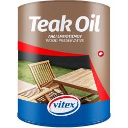 VITEX TEAK OIL MAT ΛΑΔΙ ΕΜΠΟΤΙΣΜΟΥ & ΠΡΟΣΤΑΣΙΑΣ ΞΥΛΟΥ 750ML