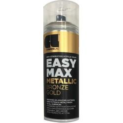 ΑΚΡΥΛΙΚΟ ΣΠΡΕΙ ΒΑΦΗΣ BRONZE GOLD SATIN COSMOS LAC EASY MAX METALLIC No901 400ml