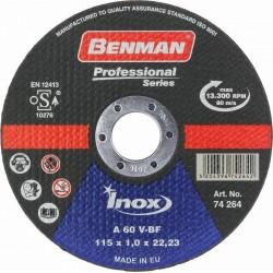 ΔΙΣΚΟΣ ΚΟΠΗΣ INOX-CD PROFESSIONAL BENMAN 115x1.0mm 74264