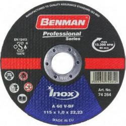 ΔΙΣΚΟΣ ΚΟΠΗΣ INOX-CD PROFESSIONAL BENMAN 230x2.0mm 74297