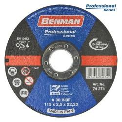ΔΙΣΚΟΣ ΚΟΠΗΣ ΣΙΔΗΡΟΥ PROFESSIONAL BENMAN 125x2.5mm 74275