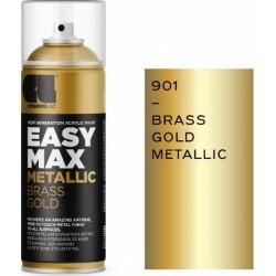 ΑΚΡΥΛΙΚΟ ΣΠΡΕΙ ΒΑΦΗΣ BRASS GOLD SATIN COSMOS LAC EASY MAX METALLIC No901 400ml